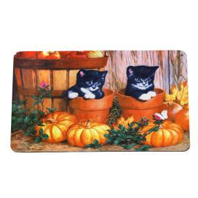 Fußmatte Herbst-Katzen, 40 x 60 cm
