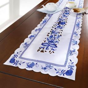 Tischläufer Blaue Pracht, 40 x 140 cm