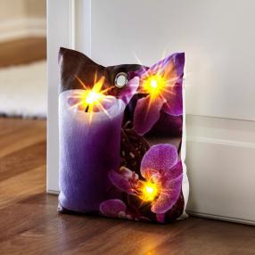 LED-Türstopper Orchidee, 20 x 25 cm