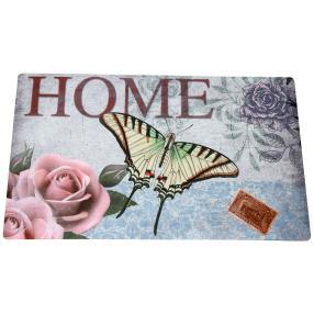 Fußmatte Schmetterling, rosé-grau, 74 x 44 cm