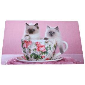Fußmatte Kätzchen, rosé, 74 x 44 cm