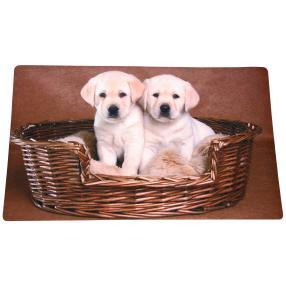Fußmatte Hundewelpen, braun-beige, 74 x 44 cm