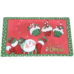 Fußmatte Weihnachten, rot-grün, 74 x 44 cm
