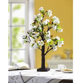 LED-Blütenbaum weiß, ca. 60 cm