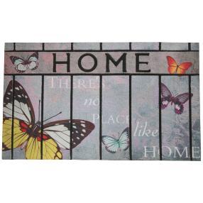 Fußmatte Schmetterling, taupe-grau, 75 x 45 cm