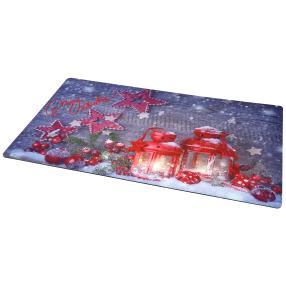 Fußmatte Weihnachten, blau, 74 x 44 cm