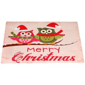 "Fußmatte ""Merry Christmas"", beige, 74 x 44 cm"