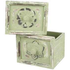 Dekoschublade Vintage, hellgrün, 2er-Set