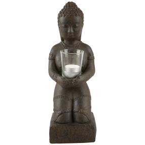 Darimana, Skulptur Buddha mit Glas