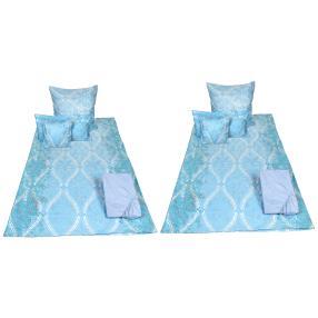 AllSeasons Bettwäsche, blaue Ornamente, 10-teilig