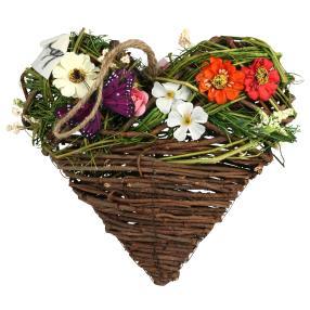 Dekoherz Frühling bunt aus Holz, 25 x 25 x 8 cm