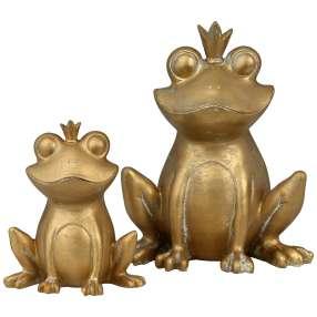 Froschkönige gold, 11 cm & 17 cm Hoch, 2er-Set