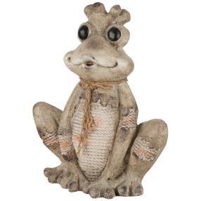 Froschkönig grau aus Magnesia, 40 x 24 x 53 cm