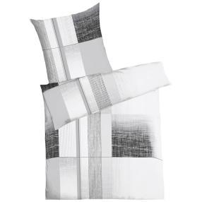 KAEPPEL Renforcé Bettwäsche schwarz-grau, 2-teilig