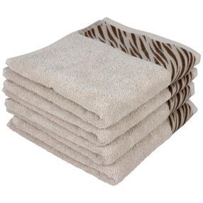 Handtuch taupe, 50 x 100 cm, 4er-Set