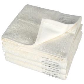 Luxus Handtuch, Glitzersteinchen, ecru, 4er-Set