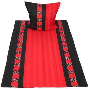 AllSeasons Bettwäsche, schwarz-rot, 2-teilig