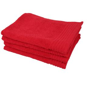 GÖZZE Handtuch rot, 50 x 100 cm, 4er Set