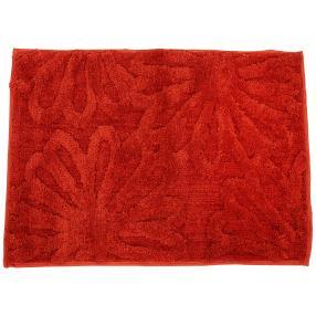 GÖZZE Badteppich Blume rot, 50 x 70 cm