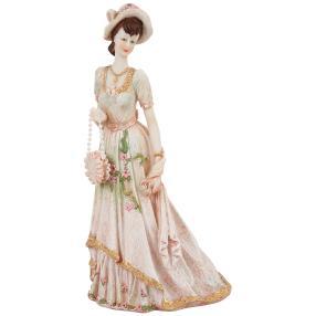 Dekofigur Dame, Polyresin, 13,5x16x30 cm