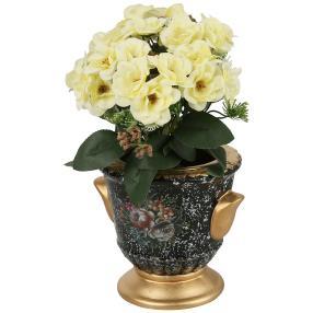 Vase mit Blumengesteck