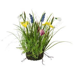 Frühlingsmix im Erdballen, bunt, 30 cm