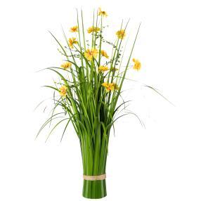 Grasbusch mit Blüten, gelb, 67 cm