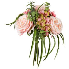 Mixstrauß Rosen/Hortensie, rosa, 20 cm