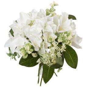 Rosen-Hortensie-Bouquet weiß, 26 cm