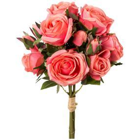 Rosenstrauß pink/rosa, 39 cm