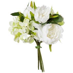 Peonienbouquet weiß, 28 cm, 2er Set