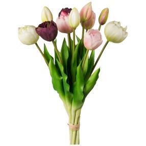 Tulpenstrauß, rosa, 12er-Bund, 39 cm