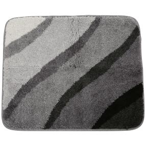 GRUND Badteppich, anthrazit, Wellen, 50 x 60 cm