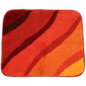 GRUND Badteppich, orange, Wellen, 50 x 60 cm