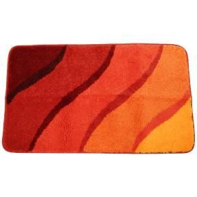 GRUND Badteppich, orange, Wellen, 60 x 100 cm