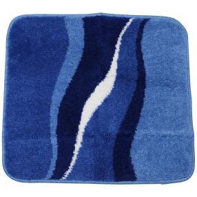 GRUND Badteppich blau, wellig gestreift 55 x 60 cm