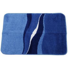 GRUND Badteppich blau, wellig gestreift 60 x 90 cm