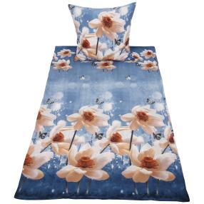 WinterDreams Bettwäsche, weiße Blumen, 2-teilig
