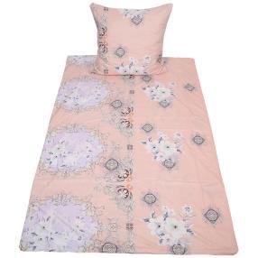 AllSeasons Bettwäsche, rose und weiß, 2-teilig