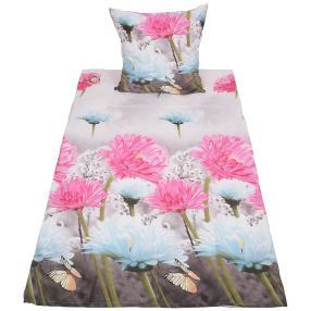 AllSeasons Bettwäsche pink-weiß Blumen, 2-teilig