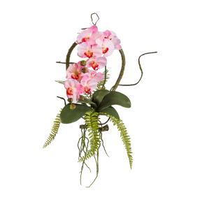 Orchideen Wandhänger rosa, 40 x 35 cm