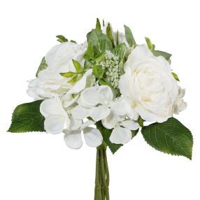 Rosenstrauß in weiß, 22 cm
