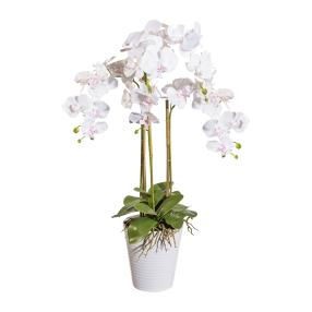 XXL-Orchidee weiß, inkl. Dekotopf, 94 cm