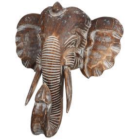 Darimana, Wanddeko Elefantenkopf, 40 cm