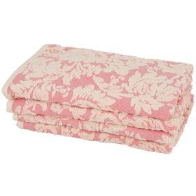 Handtuch, rosé, 50 x 100 cm, 4er-Set