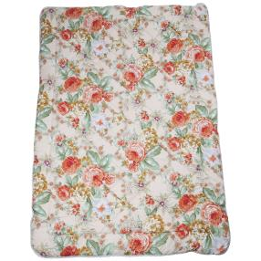 Stoffhanse Duo-Decke, floral, 135 x 200 cm