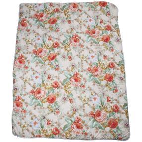 Stoffhanse Duo-Decke, floral, 155 x 220 cm