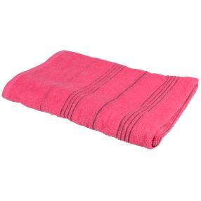 Badelaken, pink gestreift, 90 x 180 cm