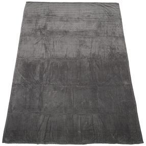 Kuscheldecke grau, Zick-Zack, 150 x 200 cm