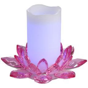 LED-Kerzenset rosa